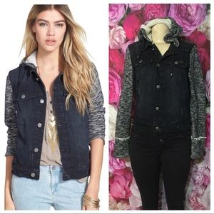 Free People Black jacket hoodie size S/P
